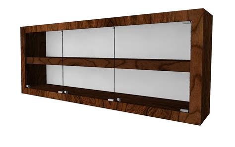 contemporary rectangle wall mounted or counter top case