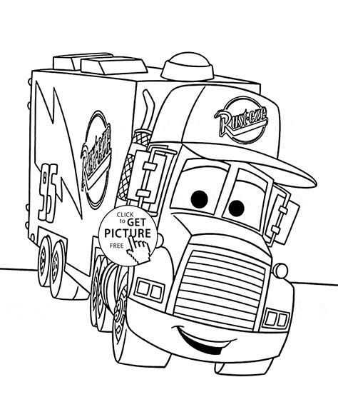 coloring pages cars mack cars mack coloring page for kids disney coloring pages