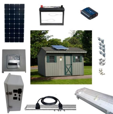Shed Solar Panel Kit by Solar Led Shed Lighting And Power Kits Sun In One