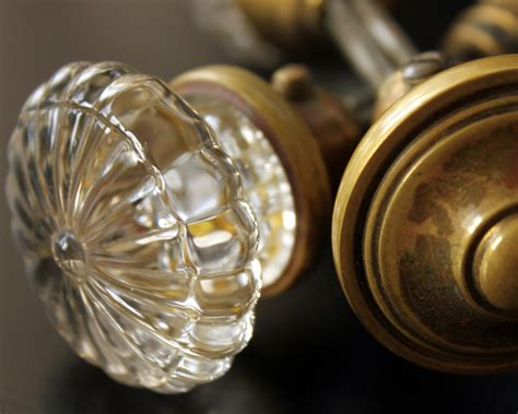 Items Similar To Door Knobs Antique Glass And Brass Door Glass Antique Door Knobs