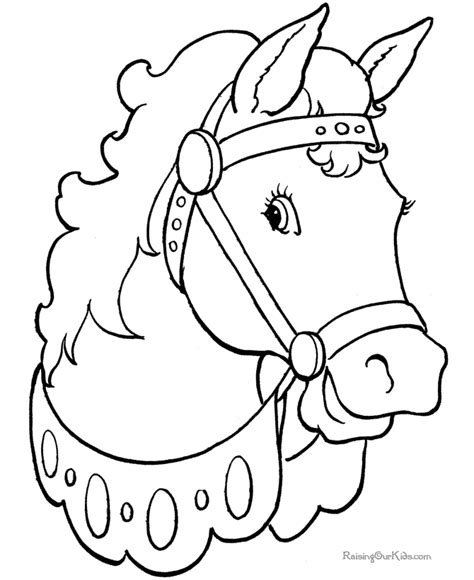 animal coloring pages for free coloring pages horses 004