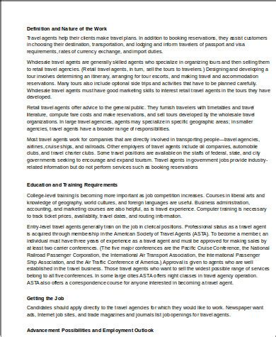 Travel Description travel description sle 9 exles in word pdf