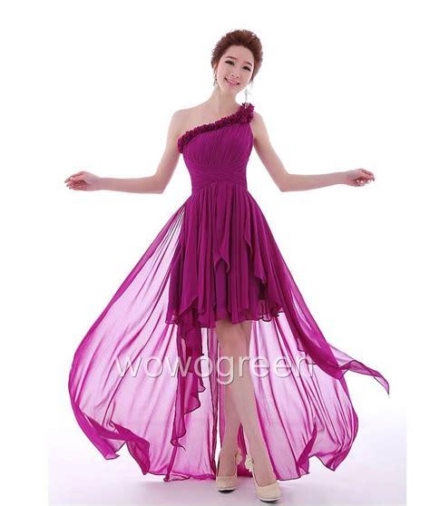 Dress Import One Shoulder 1712 one shoulder front back dress prom gowns formal wedding w0122 ebay