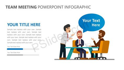 Team Meeting Powerpoint Infographic Pslides Team Meeting Powerpoint Templates