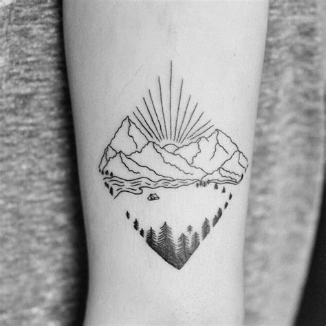 wilderness tattoos 25 best ideas about simple mountain on