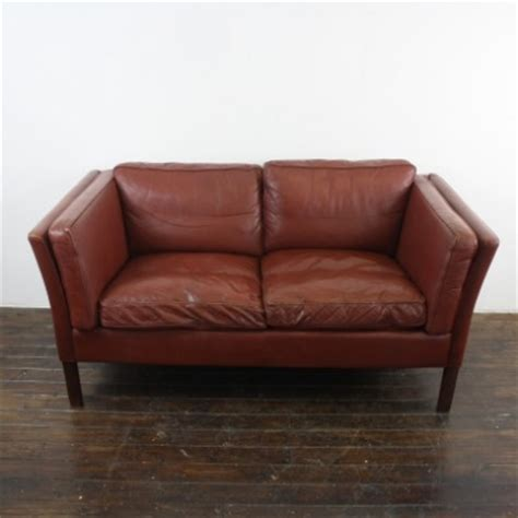Chestnut Leather Sofa Mogensen Style 2 Seater Chestnut Leather Sofa Lovely And