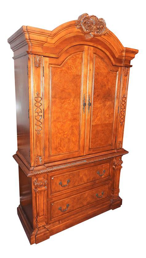 dresser and armoire set luxury cherry tv armoire dresser set chairish