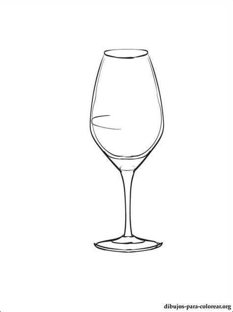 dibujo de copa de vino para pintar dibujos para colorear