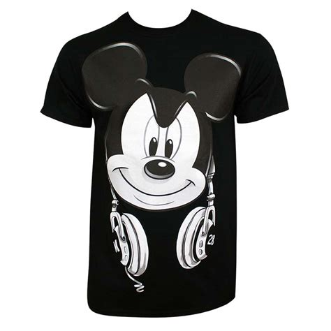 Tshirt Mickey Mouse Black mickey mouse s black dj mickey t shirt tvmoviedepot