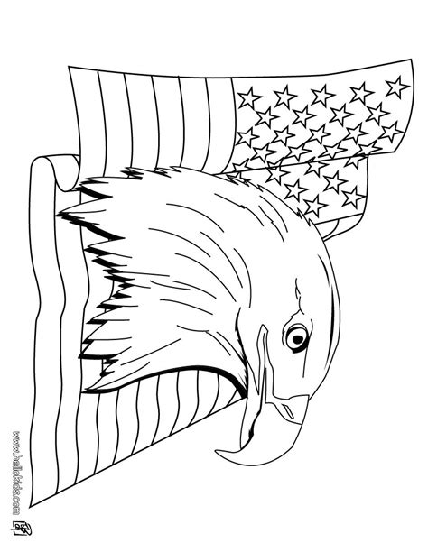 coloring pages bald eagle and us flag bald eagle and us flag coloring pages hellokids com