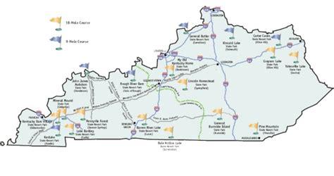 kentucky golf map kentucky state parks golf trail by brian weis