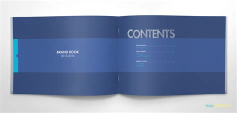 book template illustrator free free brand book template cool blue on behance