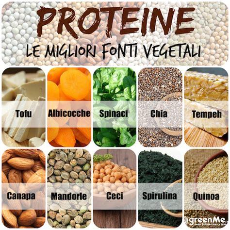 proteine alimentazione cibi vegani proteici come integrare le proteine