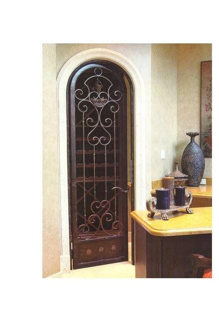 Iron Interior Doors Wrought Iron Wine Cellar Arched Door Mediterranean Interior Doors Miami By