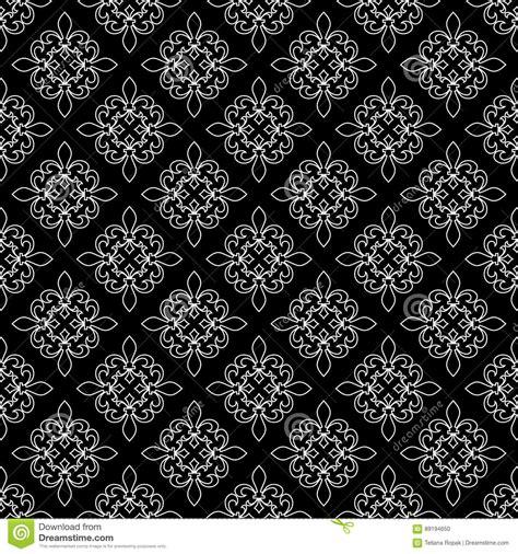 royal pattern black and white fleur de lis seamless pattern vector illustration black