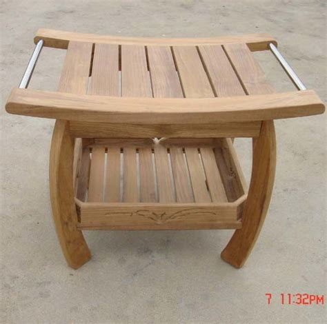shower wood bench china teak shower bench china signature hardware teak