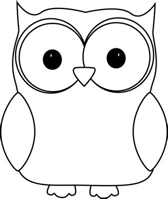 Owl Outlines Drawings by Black And White Owl Clip Black And White Owl Image