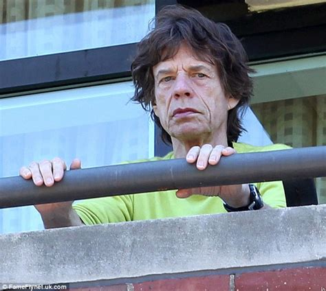 life on the road mick jagger sports tired eyes morning