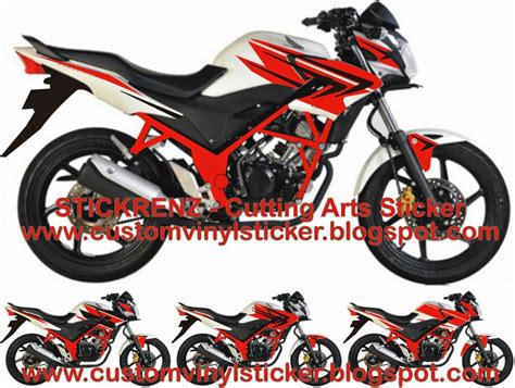 Striping Variasi Cb 150 R 17 stickrenz honda cb150r white black striping concept