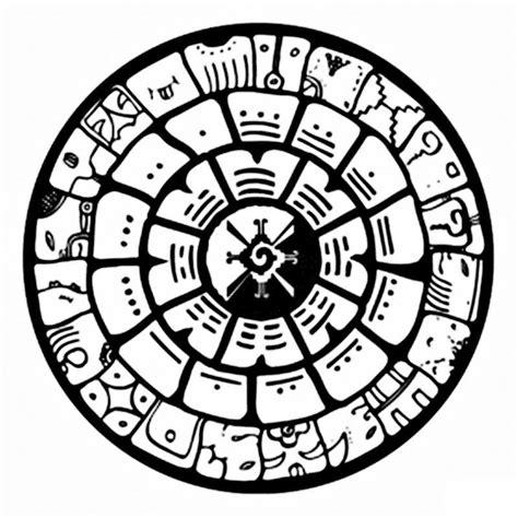 imagenes kin maya calendario maya para colorear manualidades pinterest