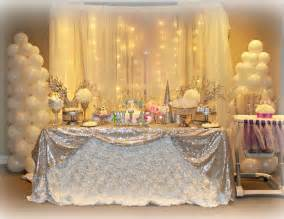 Winter themed birthday party