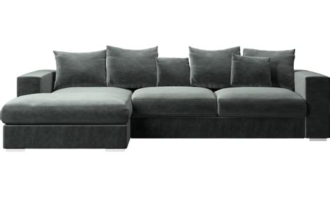 Lounge Chaise Sofa by Chaise Sofa Black Silver Velvet