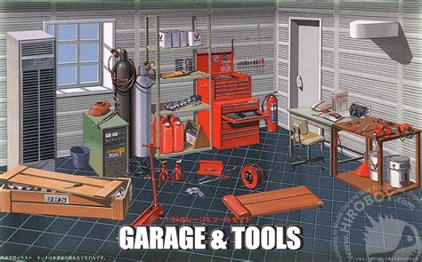 werkstatt diorama 1 24 garage and tools diorama fuj 11118 fujimi
