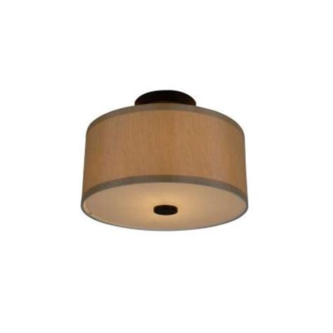 hton bay 2 light rubbed bronze glenburn semi flush drum