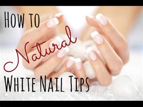where to get nail how to get white nail tips naturally with
