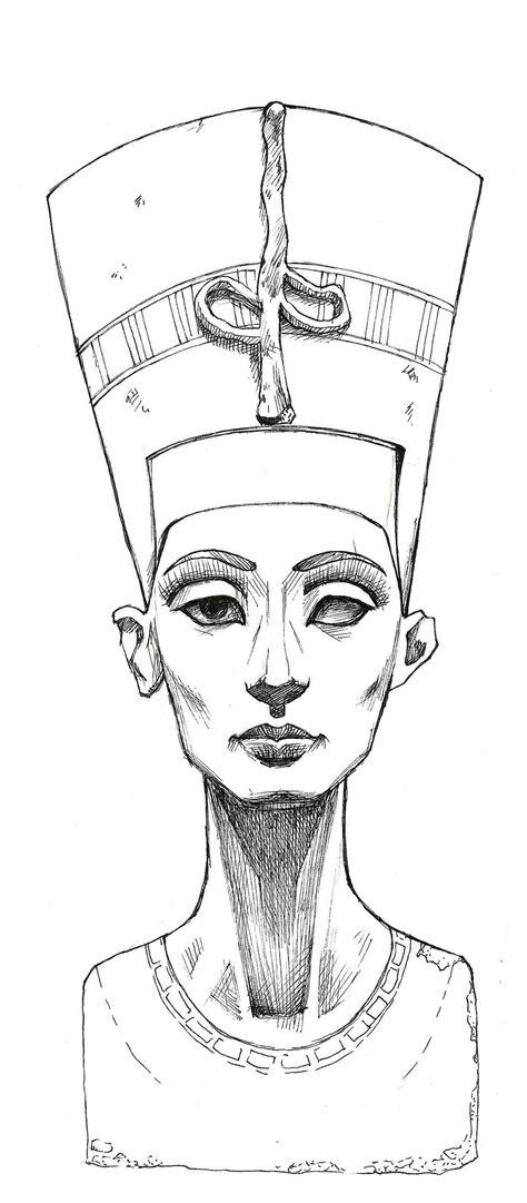 queen head tattoo nefertiti sketch nefertiti lines by mybonsaipatroclo on