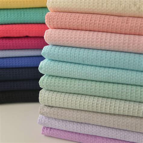 Handmade Patchwork Clothing - 50cm x140cm multicolor waffle cotton fabri diy bathrobes