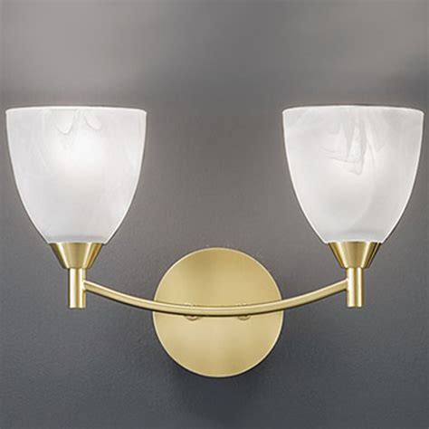 glass wall light shades franklite emmy 2 light wall light chrome finish with
