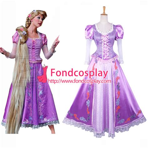 G 139 Dress Rapunzel free shipping custom made tangled rapunzel princess dress tale