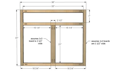 Kitchen Cabinet Face Frame Dimensions | ana white kitchen cabinet sink base 36 full overlay face