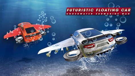 futuristic floating car underwater submarine war for