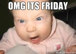 Mad Baby Meme - omg its friday angry baby meme generator