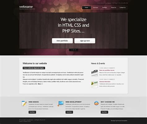 web templates for articles 20 high quality css and xhtml templates for personal