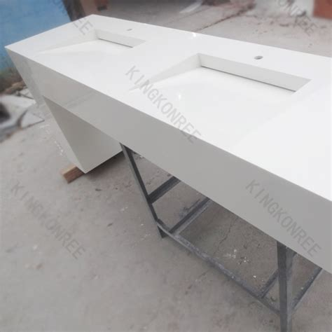 Moulded Worktop Sgs Approved Artificial Quartz Vanity Top Kitchen