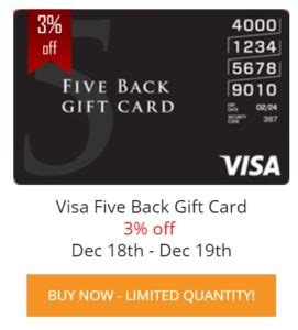 Visa Five Back Gift Card - five back visa gift card archives frequent miler
