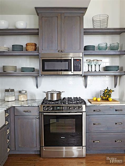 Open Shelves Microwaves And Base Cabinets On Pinterest Storage Above Kitchen Cabinets