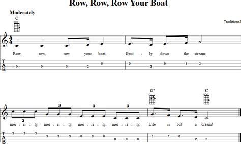 row the boat guitar chords row row row your boat ukulele tab ukulele pinterest