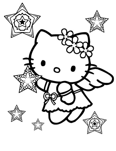 hello kitty fairy coloring page hello kitty halloween coloring pages bestofcoloring com