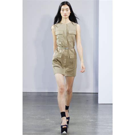 Syafira Dress lyst beckham belted safari dress in