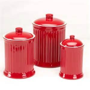 Walmart Kitchen Canister Sets Omni Simsbury Canisters Set Of 3 Red Walmart Com