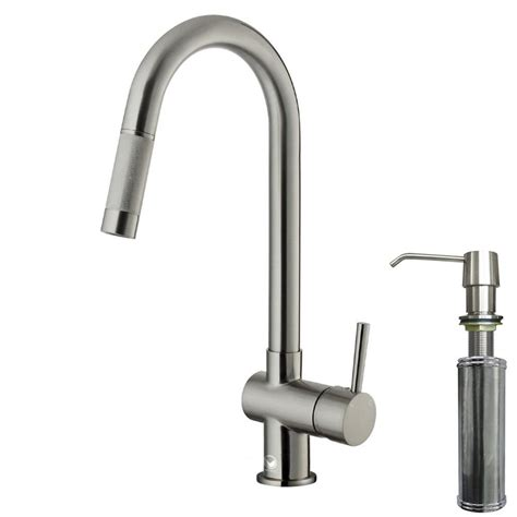 kitchen faucet with soap dispenser vigo single handle pull out sprayer kitchen faucet with