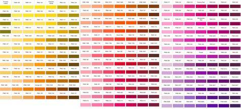 pantone color numbers pantone color charts