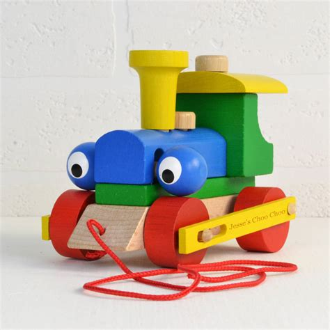 Abacus Nursery by Personalised Wooden Train Take Apart And Pull Along Toy By