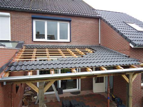 dakpannen leggen hugo verstappen bouw en timmerbedrijf overkapping met