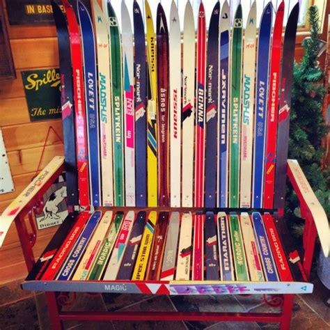 ski bench nordic ski bench maplelag resort