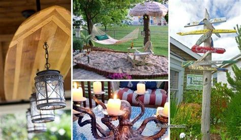 awesome beach style outdoor diy ideas   porch yard